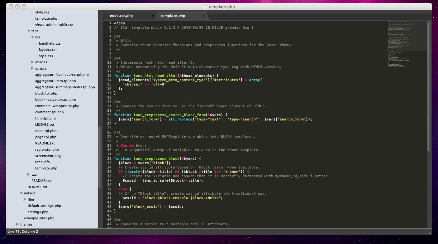 A Drupal autocomplete file for Sublime Text 2 | tanc.me